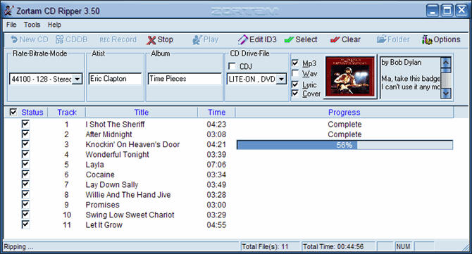 Click to view Zortam CD Ripper 4.00 screenshot