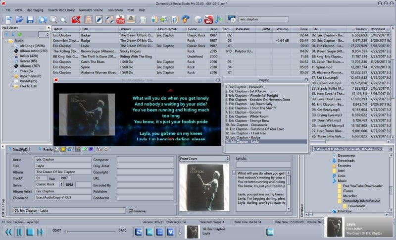 Tag editor, Mp3/iPod Organizer and Normalizer, Lyrics,Cover Finder,auto tagger